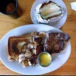 Surf & turf - steak, shrimp, & scallops