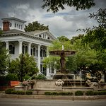 Bellamy Mansion sits at the Corner of Market and 5th. View of the mansion and Kenan Plaza.