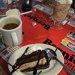 """Good decaf coffee and great chocolate/hazelnut """"moose"""" cake and Grape-nut pudding!"""