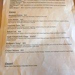 Gluten Free menu as of 7/10/18