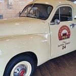 Vintage car inside