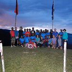Escape Trekking T7 group at end of Dawn Service on Brigade Hill on Kokoda track