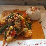 Sweet shrimps pepper