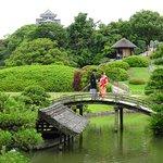 Wedding photos at Korakuen Garden, Okayama