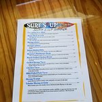 Surf's Up menu page #1