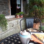 Early tea and coffee on the lovely terrace