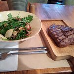 Salad and Beef steak