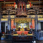 The main alter of the oldest functioning Chinese temple in Malaysia