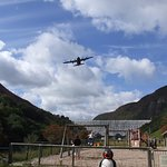 Hercules over caban coch (taken before playpark updated)