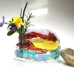 Small fused glass vase by Moriath Glass