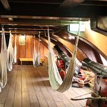 Inside life size model of VOC ship Amsterdam