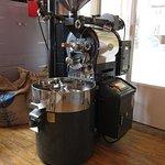 Meet Gerrard our shiny roasting machine
