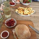 BBQ Jackfruit Sandwich & Salad with Chips