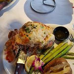 Baked Stuffed lobster tail