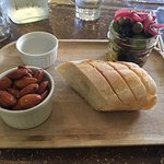 Olives, Almonds & Baguette Small Plate