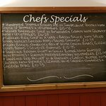 The Chefs Specials Board on the day we visited