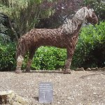 Willow sculpture of horse