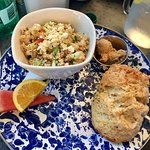 Quinoa side salad with a rosemary & Parmesan scone