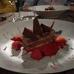 Dessert chocolat / poivron / piment