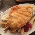 One piece halibut and chips