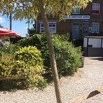 Back of pub in garden