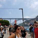 Group looking at the Porto bridge - this is where the tour ended