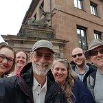 #NurembergToursinEnglish with #HappyTourCustomers at the Fleischbrücke in Nuremberg