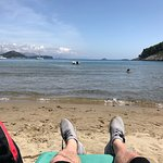 Relaxing on Sujn beach.