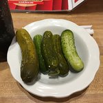 Complimentary pickles