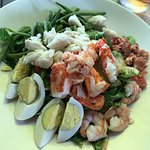 Lobster Cobb Salad with Crab and Shrimp