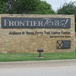 Sign at entrance to Frontier Texas