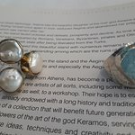 Silver decorated with Pearl and Aquamarine