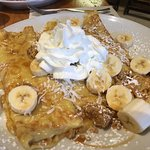 Yummy banana cream pie pancakes and crepes!