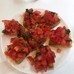 Crostini with chopped tomatoes