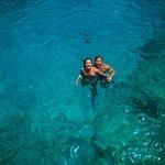 Lugar Fantástico com uma cor de águar que só tem em San Andrés