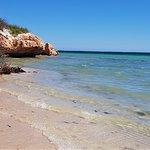 Mid tide at Coral Bay.