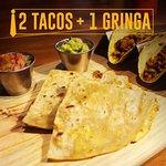 La combinación perfecta, tacos + gringa!