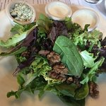 Salad with walnuts & bleu cheese crumbles
