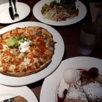 Thai Chicken Crepe(Top), Chicken & Bacon Pizza(Middle), The Ultimate (Crepe w. cream cheese)(Bot