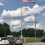 American and Red Lion Flags