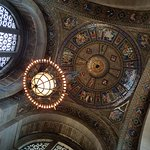 Vestibule dome and chandelier