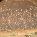 Petroglphs at Newspaper Rock