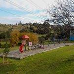 Playground has scenic views