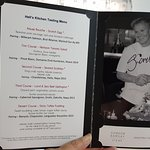 Set dinner menu autographed by Gordon Ramsay