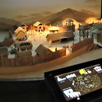 Model of a Korean village in the museum.