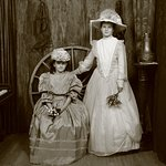 Some girls just step back into the Victorian years so beautifully...fun time during school holid
