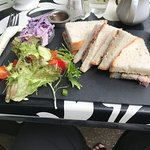 sandwich & side salad, which was well past its use by date
