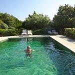 devant notre chambre, piscine privée