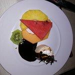 Frutta con gelato