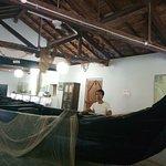 Fishing boat on display at Marine museum